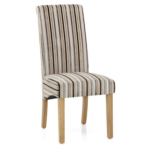 Miraculous Roma Dining Chair Oak Stripe Home Interior And Landscaping Dextoversignezvosmurscom