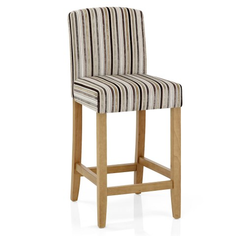 Carter Oak Bar Stool Stripe Fabric Atlantic Shopping