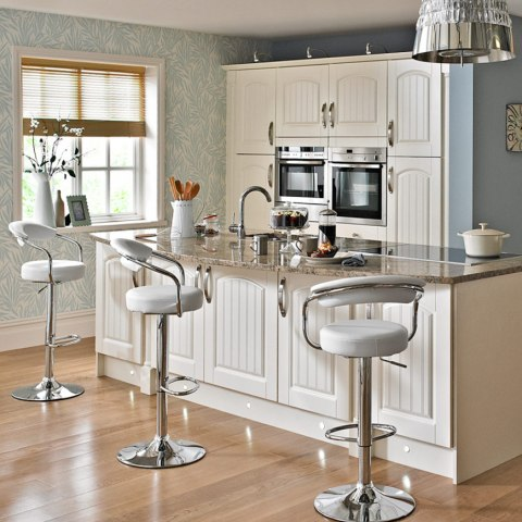 Pluto Bar Stool White