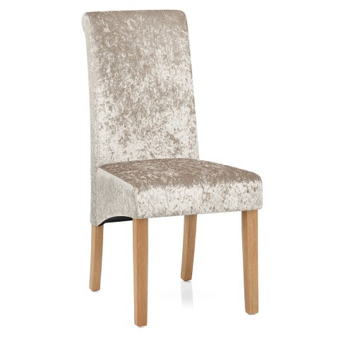 Claremont Dining Chair Beige Velvet