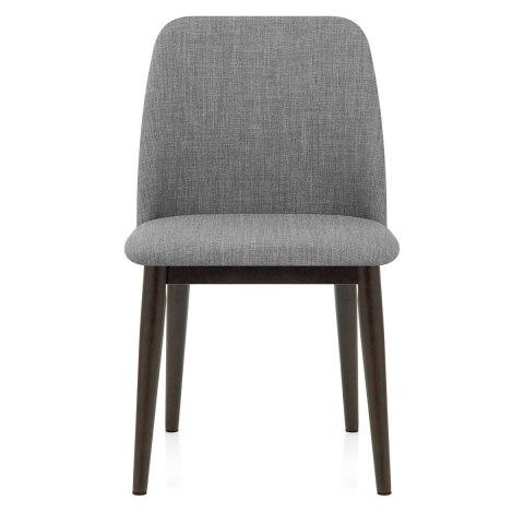 Elwood walnut dining chair grey fabric atlantic shopping - Atlantic shopping dining chairs ...