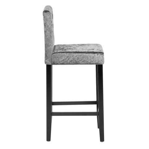 Brookes Bar Stool Light Grey Velvet