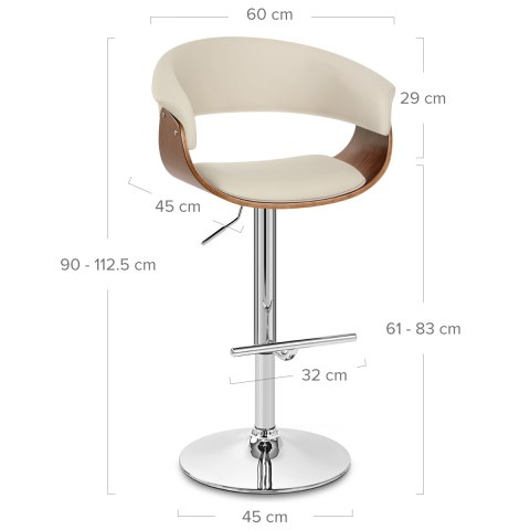 Grafton Stool Walnut & Cream