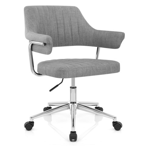 Skyline Office Chair Grey Fabric, Grey Fabric Desk Chair With Arms