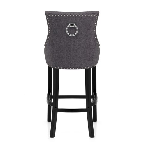 Ascot Bar Stool Charcoal Fabric - Atlantic Shopping