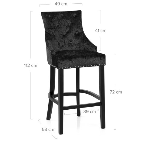 Ascot Bar Stool Black Velvet