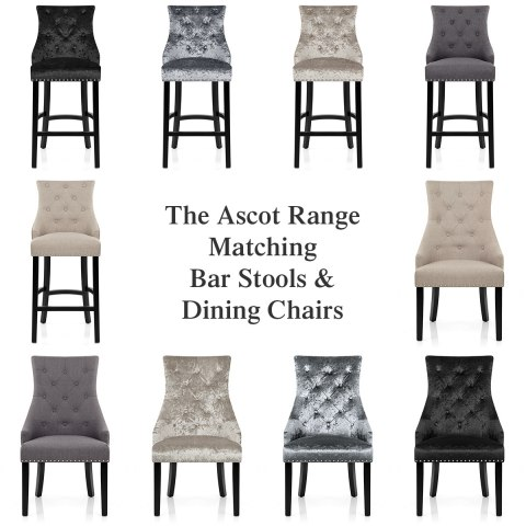 Ascot Bar Stool Grey Velvet Atlantic Shopping