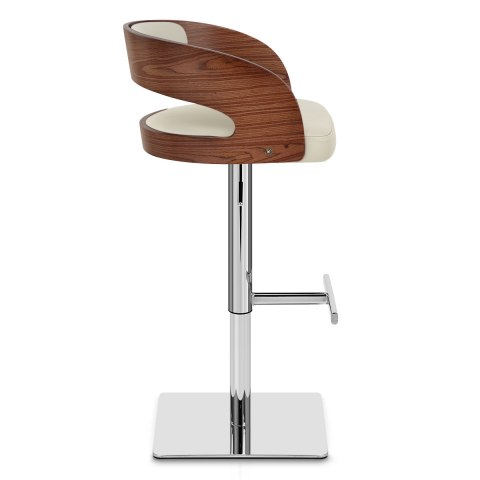 Eve Real Leather Bar Stool Cream