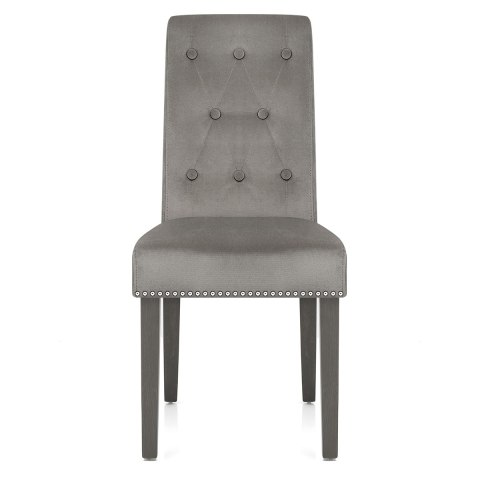 Moreton Dining Chair Grey Velvet Atlantic Shopping