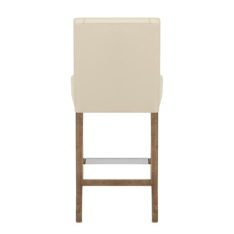 Chartwell Stool Cream Faux Leather