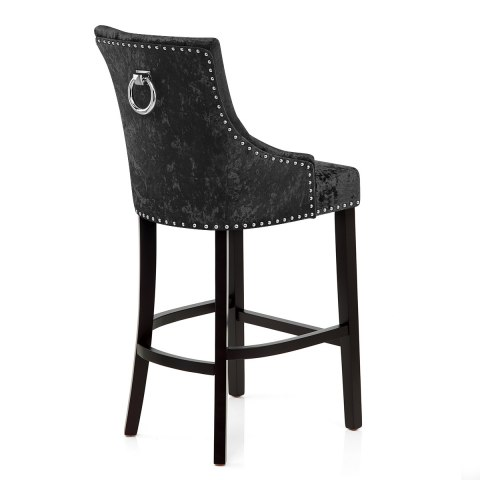 Ascot Bar Stool Black Velvet Atlantic Shopping
