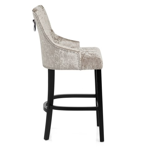 Ascot Bar Stool Mink Velvet