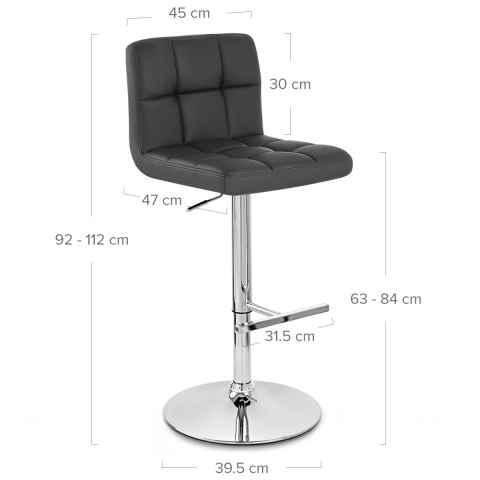 Grid Bar Stool Black