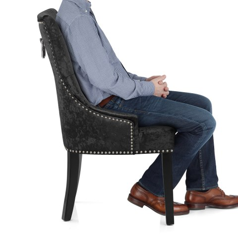 Ascot Dining Chair Black Velvet