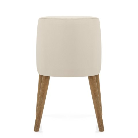 Woodstock Oak Chair Cream Velvet