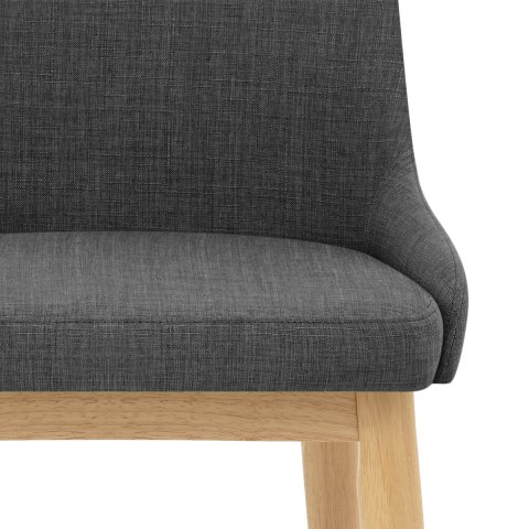 Jersey Dining Chair Oak & Charcoal