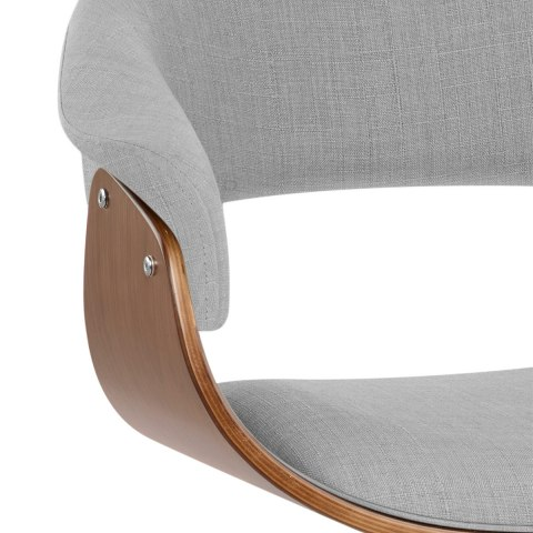 Grafton Stool Walnut & Grey Fabric