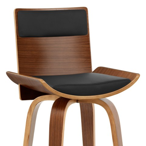 Harper Bar Stool Walnut Black
