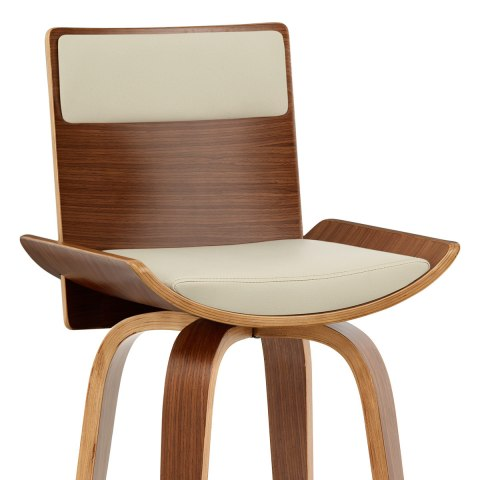 Harper Bar Stool Walnut Cream
