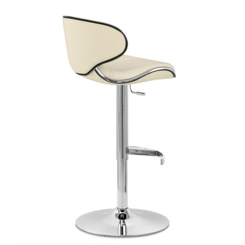 Deluxe Duo Real Leather Stool Cream