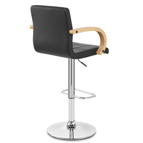 Burton Oak Bar Stool Black