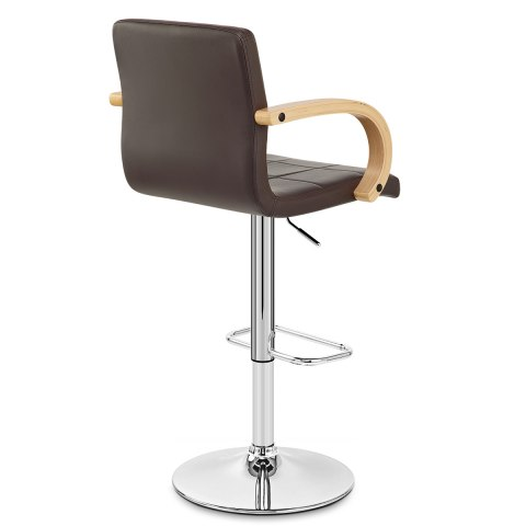 Burton Oak Bar Stool Brown