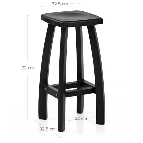 Oslo Bar Stool Black