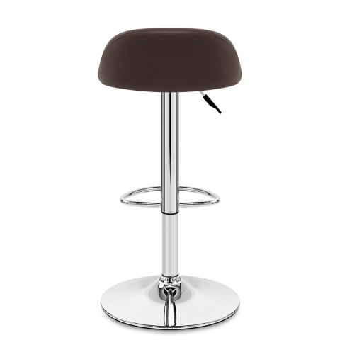 Lulu Real Leather Stool Brown