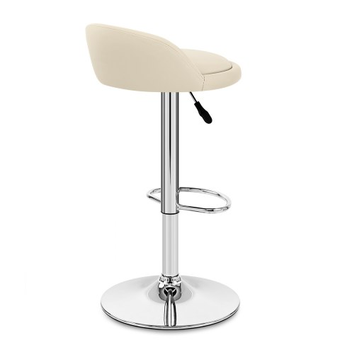 Lulu Real Leather Stool Cream