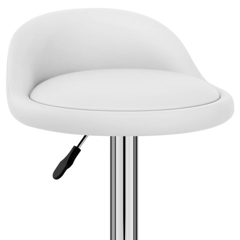 Lulu Real Leather Stool White