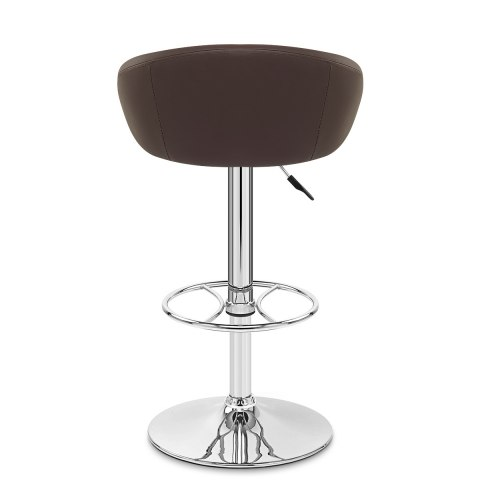 Zenith Real Leather Stool Brown