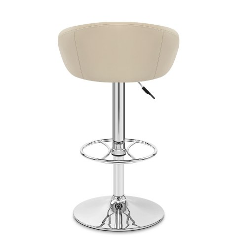 Zenith Real Leather Stool Cream