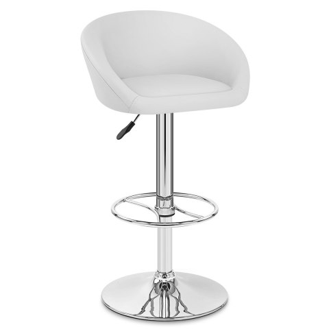 Zenith Real Leather Stool White