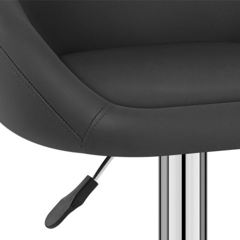 Zenith Real Leather Stool Black
