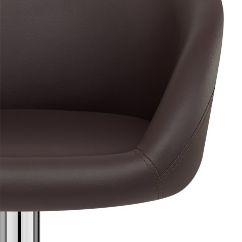 Brown Faux Leather Eclipse Bar Stool