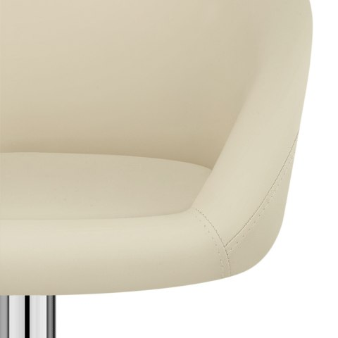 Cream Faux Leather Eclipse Bar Stool