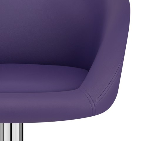 Purple Faux Leather Eclipse Bar Stool