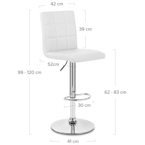 Criss Cross Bar Stool White