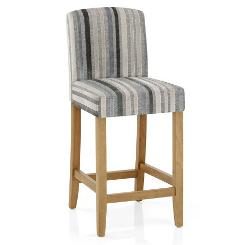Carter Oak Bar Stool Cambridge Stripe Atlantic Shopping