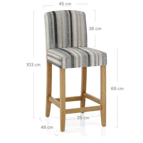 Carter oak bar stool cambridge stripe atlantic shopping
