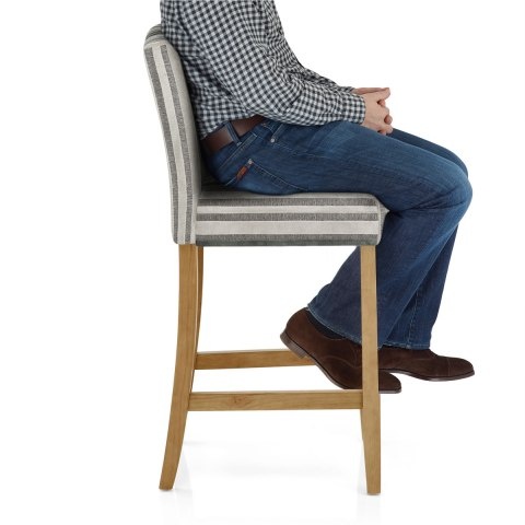Carter Oak Bar Stool Cambridge Stripe