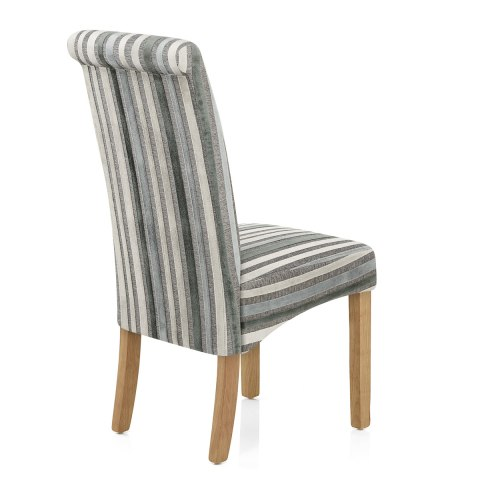Roma Oak Dining Chair Cambridge Stripe Atlantic Shopping