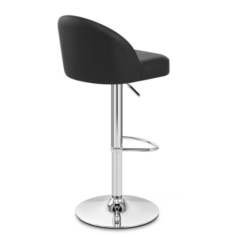 Mimi Chrome Stool Black