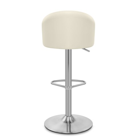 Mimi Brushed Steel Stool Cream