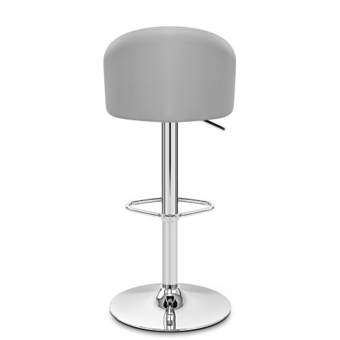Mimi Chrome Stool Grey
