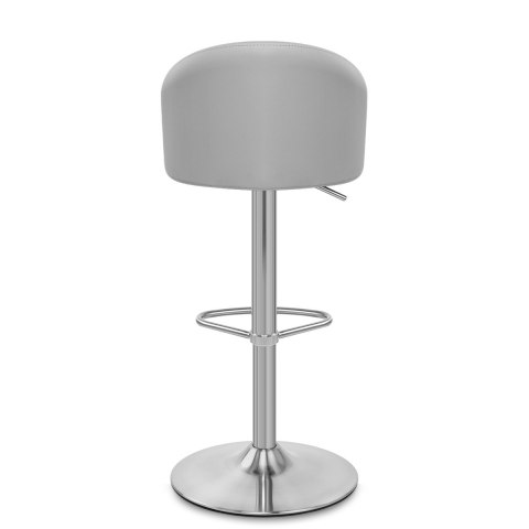 Mimi Brushed Steel Stool Grey