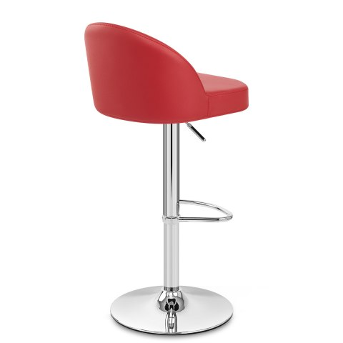 Mimi Chrome Stool Red