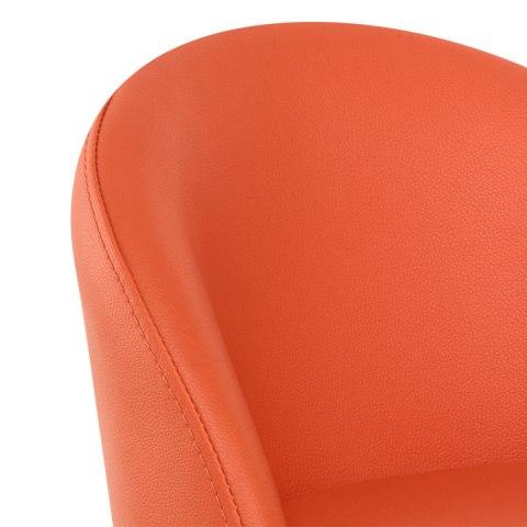 Mimi Brushed Steel Stool Orange Atlantic Shopping