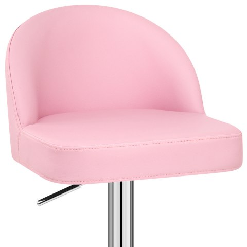 Mimi Chrome Stool Pink