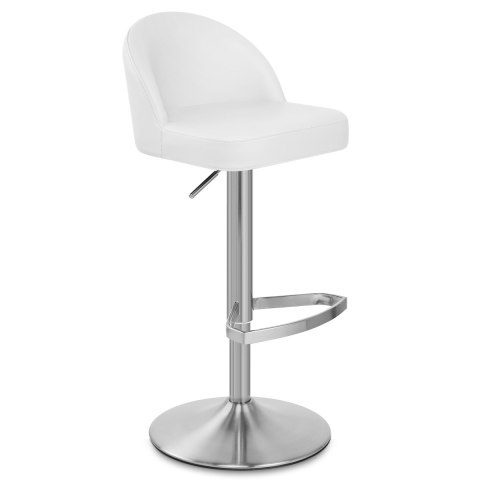 Mimi Real Leather Bar Stool White